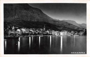 Makarska Croatia Birds Eye View Real Photo Antique Postcard J65979