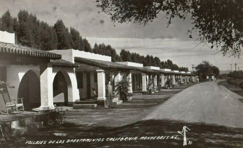 RP: MONTERREY, N.L. , Mexico, 1930-40s ;  Follarjes De Los Apartmentos Calfornia