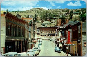 Central City, Colorado Postcard MAIN STREET Downtown Scene Dexter Chrome c1950s