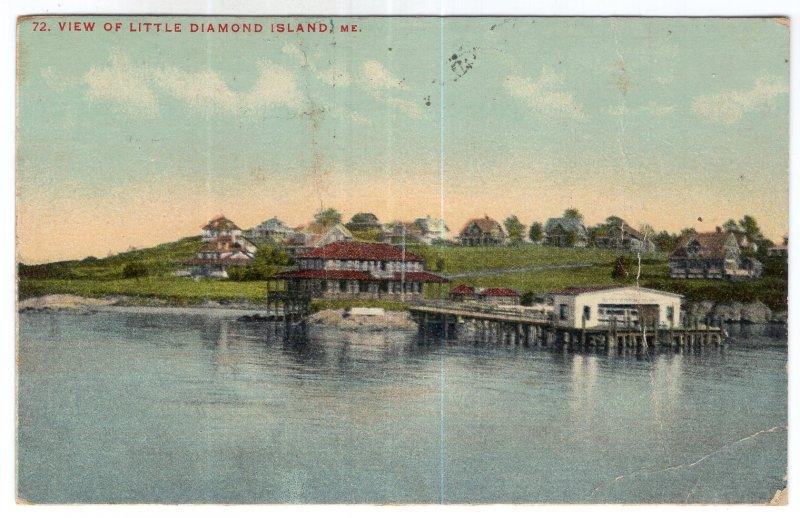 View Of Little Diamond Island, Me.
