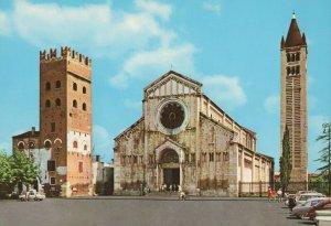 Verona A view from the side Eglise st Zeno vintage postcard Riproduzeone vieteaa