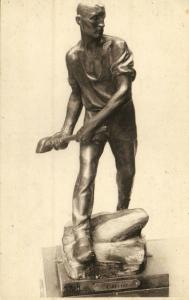 Belgian Sculptor Constantin MEUNIER, Le Carrier, Bronze Statue