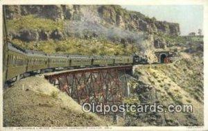 California Limited, Johnsons Canyon, Arizona, AZ USA Trains, Railroads Postca...
