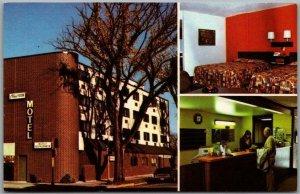 Rochester, Minnesota Postcard CLINIC VIEW MOTEL Street & Room Views 1960s Chrome