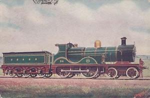 Royal Engine Train British Franco London Exhibition Antique Railway Postcard