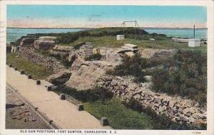 South Carolina Charleston Old Gun Positions Fort Sumter 1929