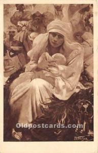 Artist Alphonse Mucca Postcard Slovanska Epopeje Unused
