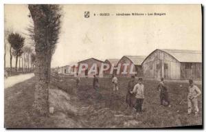Old Postcard Army Military Aerodrome Ouges Hangars