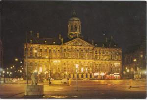 Amsterdam, Holland, The Royal Palace dominating the Dam-square, unused Postcard