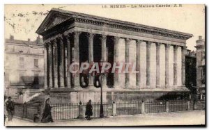 Nimes Old Postcard The house Carree