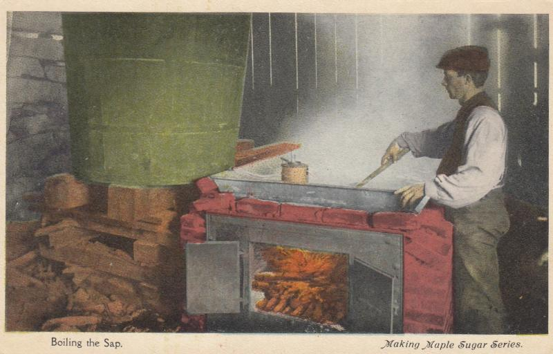 WHITE RIVER JUNCTION , Vermont , 00-10s ; Making Maple Sugar , Boiling the sap