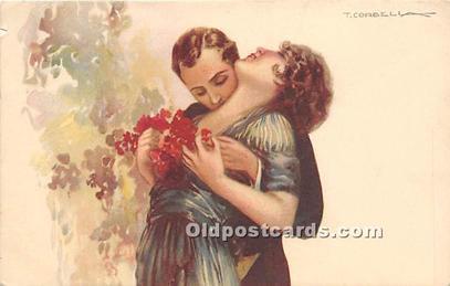 Artist Tito Corbella Postcard Series 234-3 Unused paper of postcard front and...