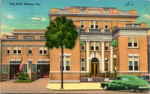 Albany GA City Hall Postcard used 1958
