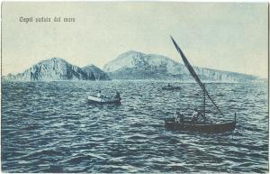 Italy, Capri Veduta dal mare, early 1900s used Postcard