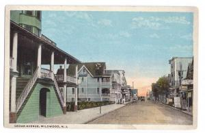 Wildwood NJ Cedar Ave. 1913 Curteich Vintage Postcard