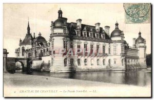 Old Postcard Chateau de Chantilly The Facade North East