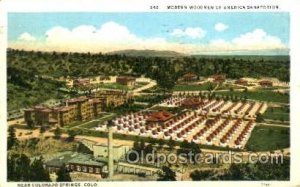 Modern Women of America Sanatorium Colorado Springs, CO, USA Postcard Post Ca...
