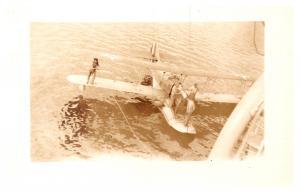 Tethering  Sea plane next to Ship RPC , RPC