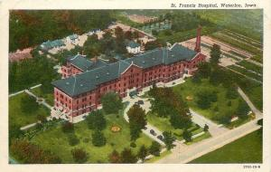 Waterloo Iowa~St Francis Hospital Aerial View~Houses & Trees in Background 1940