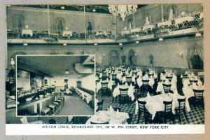 Maison Louis New York City unused Black & White Eagle Postcard