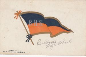 WASHINGTON D.C., 1901-07 ; Business High School Pennet Postcard