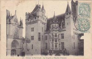 France Pierrefonds Le Chateau La Chapelle et l'Escalier d'honneur 1906