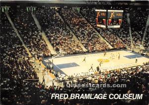 Old Vintage Basketball Postcard Post Card Fred Bramlage Coliseum, Kansas Stat...