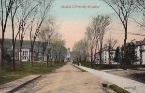 Canada Montreal Street Scene McGill University