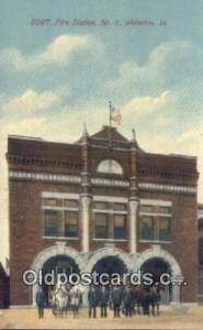 Fire Station No 1 Waterloo, IA, USA Postcard Post Cards Old Vintage Antique W...