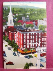 Old Postcard PA Easton  Hotel Huntington