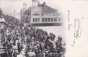 New Jersey Altantic City Crowded Boardwalk 1905