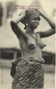 CPA Senegal Ethnic Nude Fortier - 1357. Étude N 36 Fille Soussou (70968)