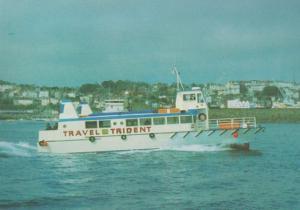 Trident Catamaran Ferry Guersey Channel Islands Postcard
