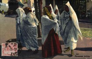 tunisia, Group of Jewish Girls, Juives Costumes 1913 JUDAICA, Lehnert & Landrock