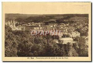 Old Postcard Panorama spa Taken From Point View From Park
