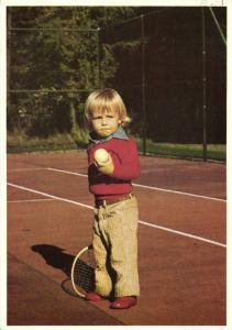 Dutch Prince Johan Friso playing Tennis (1970s)