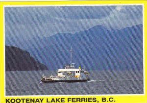 Canada Ferry M V Balfour Kootenay Bay Ferries British Columbia