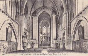 France Le Mans Interieur de l'Eglise Notre Dame de la Couture