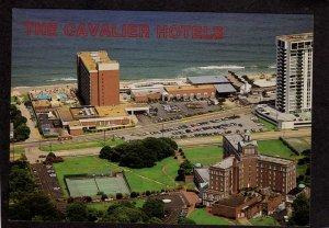 VA Cavalier Hotels Tennis Courts Virginia Beach Postcard