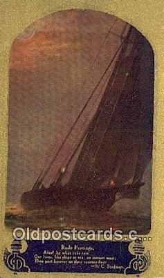 Sailboat 1911 postal used 1911