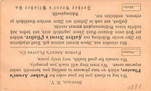Medicine Advertising Old Vintage Antique Post Card Father Arent's Plaste...