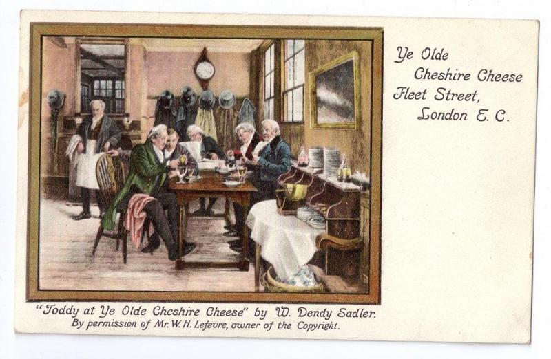 Toddy at Ye Olde Cheshire Cheese W. Sadler Painting London