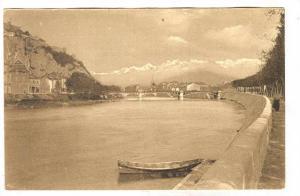 RP; GRENOBLE, Les Quais de l'Isere et les Alpes, Rhone-Alpes, France, 00-10s