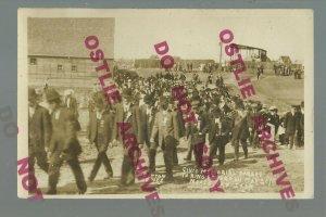 Moose Jaw SK CANADA RPPC 1910 PARADE King Edward VII FUNERAL Memorial Parade