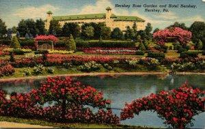 Pennsylvania Hershey The Hershey Rose Garden and Hotel Hershey 1956 Curteich