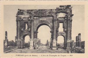 Algeria Timgad pres de Batna L'Arc de Triomphe de Trajan