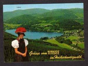 Grusse Vom TITISEE  Baden Württemberg Germany Postcard