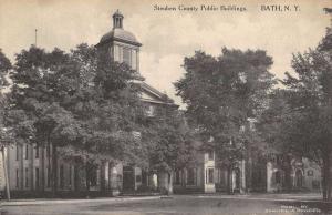 Bath New York Steuben County Public Bldgs Exterior Antique Postcard K23173