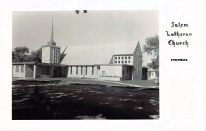 Real Photo Postcard Salem Lutheran Church in Stromsburg, Nebraska~130896