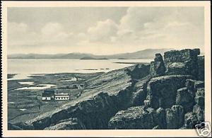 iceland, ÞINGVELLIR, Panorama (ca. 1930)